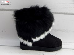 EMU boots with tassels and FUR black