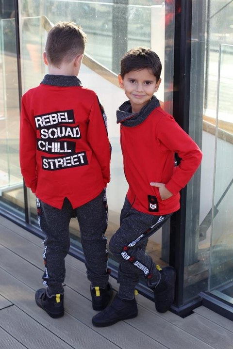 Red Sweatshirt REBEL with
