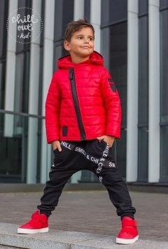 Red Jacket with black accessories