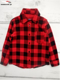 Shirt in red-and-black Plaid