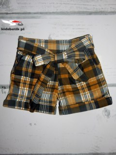 Shorts in mustard-black Plaid
