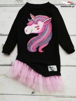 UNICORN GLITTERY dress with tulle