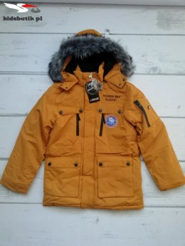Winter PARKA jacket boys with a detachable fur hood and