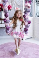 Exclusive ladies ' knitted dress flower - ecru