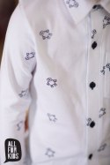 Elegant white shirt with print