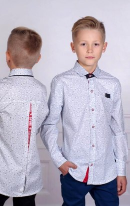 Elegant shirt in pattern with the tape on the back