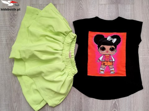 Set LOL: blouse and skirt PINK NEON