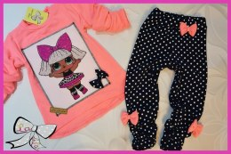 Set of LOL-Doll tunic and leggings with bow