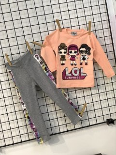 Set Lol Surprise blouse and leggings with lampasem