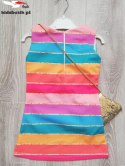 Ceremonial dress LOL bag-colorful stripes