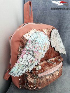 Backpack Angel-double-sided sequins and wings