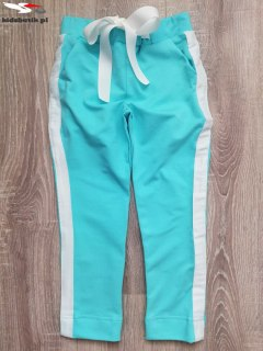 Sports and elegant pants with bow and side stripes-Mint