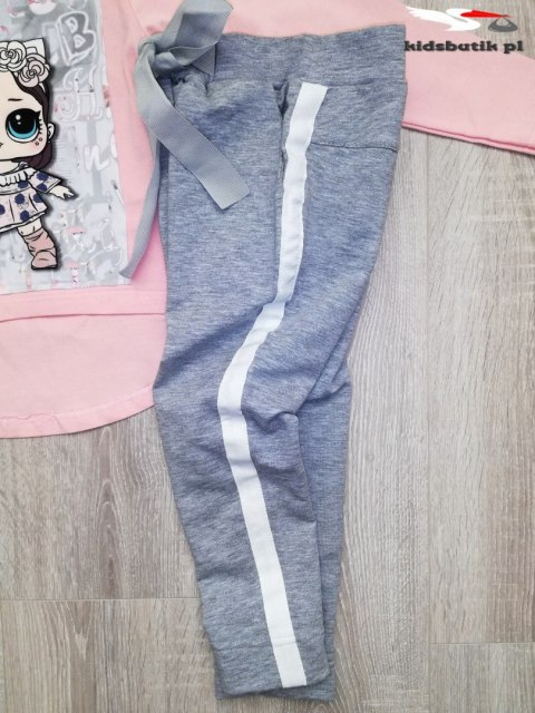2 piece/tracksuit LOL with a bow and side stripes