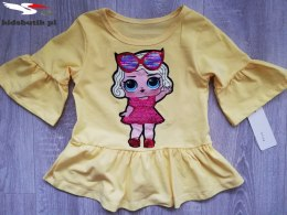 Blouse LOL peplum-lemon