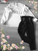 Elegant Spanish blouse with lace and frilled skirt