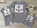 Striped tunic with an anchor for daughter