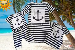 Striped tunic with an anchor for mom
