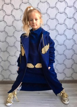 ANGEL coat with golden wings