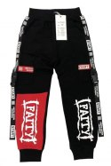 FAITY sweatpants with print and detachable straps