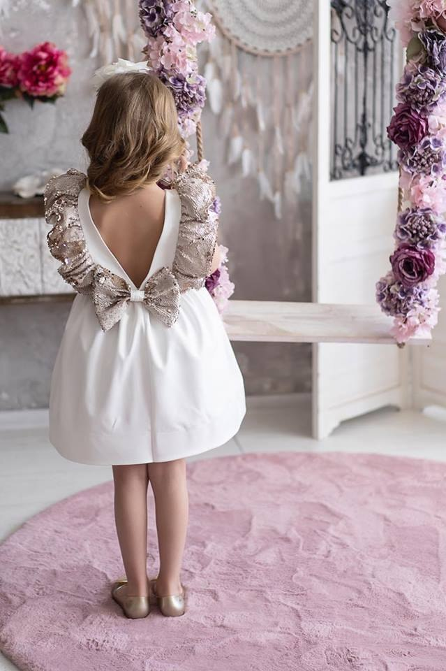 Elegant ANGEL dress with magic sequins wings