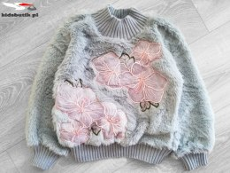 Knitted fur Jacket HIBISCUS