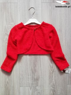 Sweater with a shiny thread and decorative button