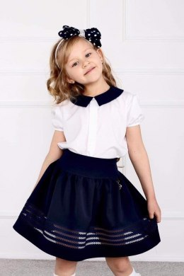 Elegant school skirt with mesh