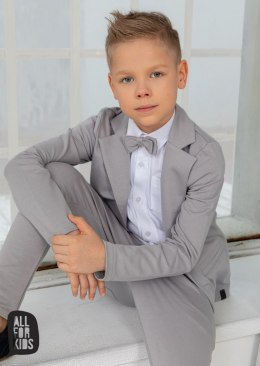 Elegantly sporty light grey checkered suit with fly included
