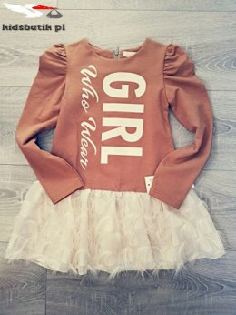Caramel GIRL dress with tassels