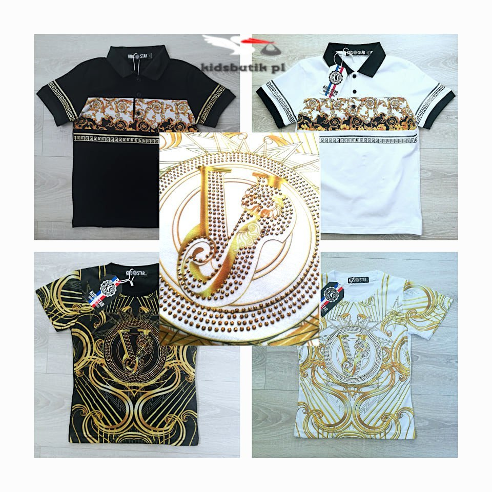 T shirt GOLD ORNAMENTS studs