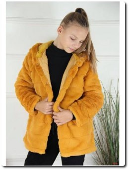 Coat furry honey