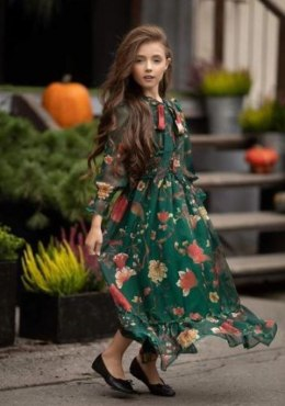 Chiffon maxi dress Floral