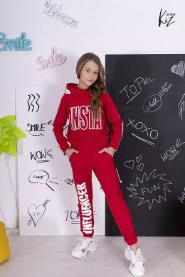 INSTA INFLUENCER tracksuit set - red
