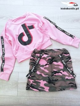 TIK TOK tracksuit set with skirt - moro pink