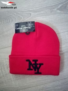 Winter Hat NY Embroidery RED