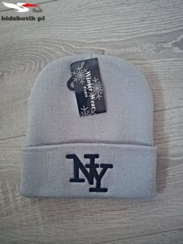 Winter Hat NY Embroidery GREY