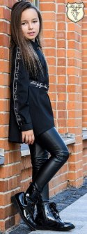 Asymmetric long VOGA shirt/tunic with eye-catching tape and strap