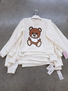 Sweatshirt with the Teddy Bear print - ecru