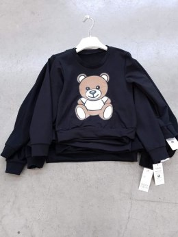 Sweatshirt with the Teddy Bear print - black