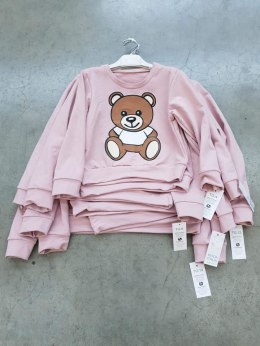 Sweatshirt with the Teddy Bear print - pink powder