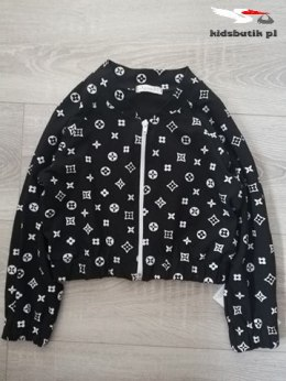 Bomber/tracksuit jacket with fashionable print