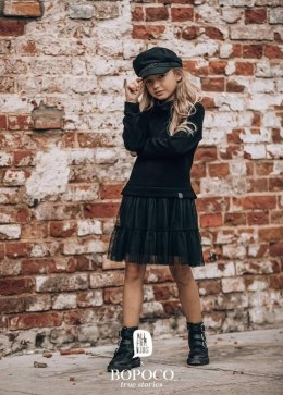 Black dress with sweater and tulle for a daughter