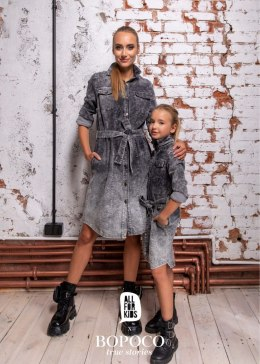 Decayed dress szmizjerka jeans (knitted) - graphite