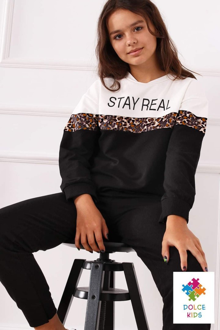 Insulated tracksuit STAY REAL with panther