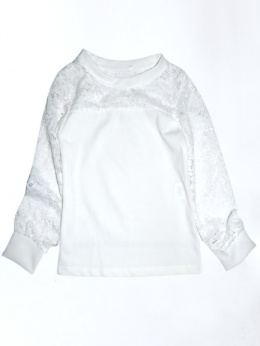 Elegant blouse with lace