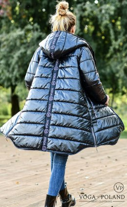 Quilted winter jacket/coat VOGA POLAND with tape and ziers