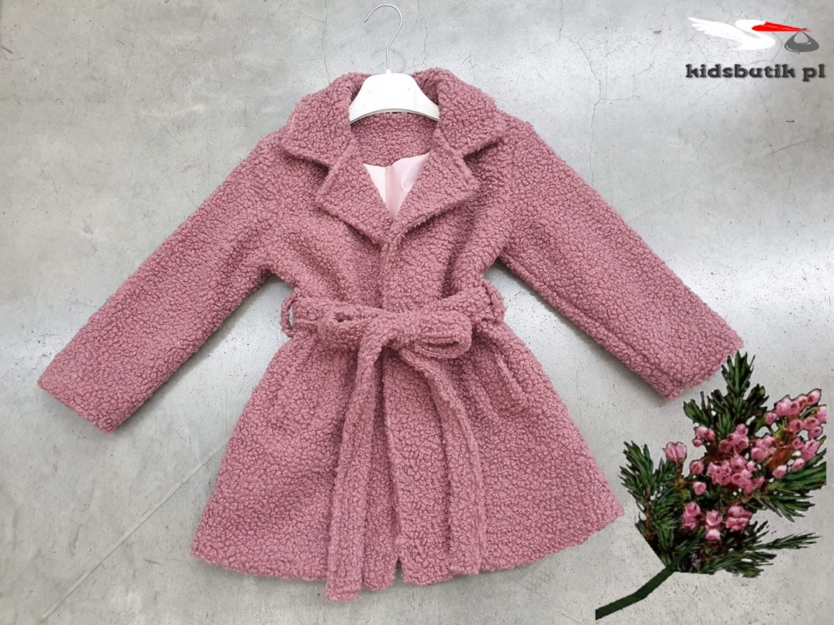 Transitional coat with buckli - sheepskin autumn/spring roses