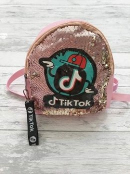 BACKPACK TIK TOK magic sequins with pin - pink