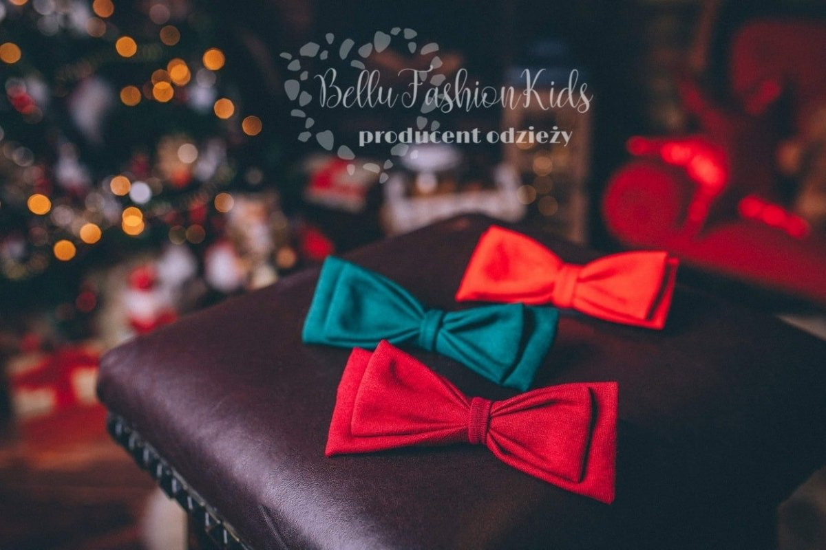 Christmas fly - red bow tie for son