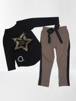 Set/STAR tracksuit with fur star and pants with bow